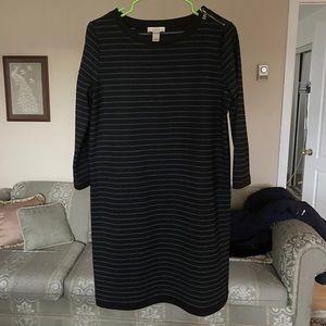 LOFT dress women size M stripes